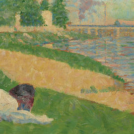 The Seine With Clothing On The Bank  by Georges Seurat