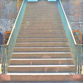 The Stairs At Fort Macon North Carolina  by Lisa Wooten