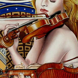Moshe Rosental - The  Three  Graces - Detail