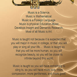 Trumpet Why Music For Posters Or T-shirts 4829.02 by M K Miller