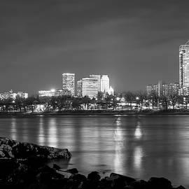 Gregory Ballos - Tulsa Oklahoma from the Shoreline - Black and White