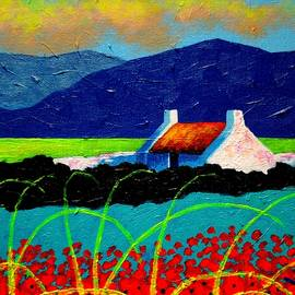 John  Nolan - Turquoise Meadow and Poppies