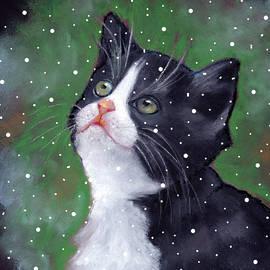 Joyce Geleynse - Tuxedo Cat With Snowflakes