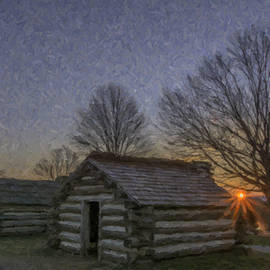 Two huts at Dawn by Jeff Oates Photography