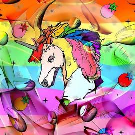 Nico Bielow - Unicorn Popart by Nico Bielow