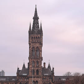 University Of Glasgow At Sunrise by Maria Gaellman