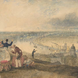 View Of London From Greenwich by Joseph Mallord William Turner