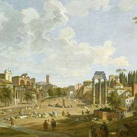 View of the Roman Forum - Giovanni Paolo Panini