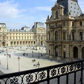 Walking At The Louvre by Susie Weaver