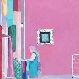 Jan Matson - Washing Day, Burano, Venice