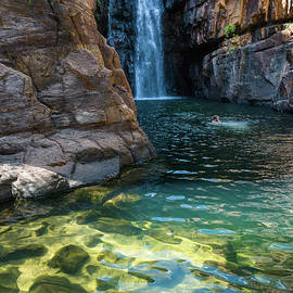 Waterfall at Katherine Gorge, by Andrew Michael