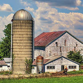 William Sturgell - Weathered Barn and Silo
