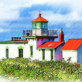 Kirt Tisdale - West Point Lighthouse Sketched