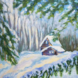 Olga Malamud-Pavlovich - Winter day in the forest