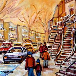 Winter Walk In Montreal by Carole Spandau
