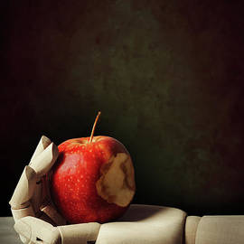 Wooden Hand With Apple - Amanda Elwell