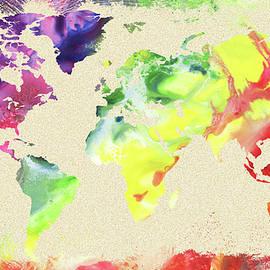 World Map Watercolor - Irina Sztukowski