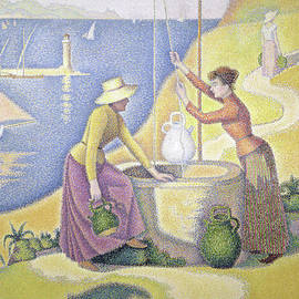 Paul Signac - Young Women of Provence at the Well, 1892