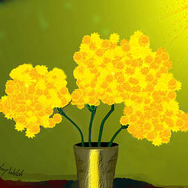 Irmgard Schoendorf Welch - 1015 - Yellow flowers .A..