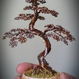 Ricks Tree Art - #107 Wire Tree Sculpture multi colored brown