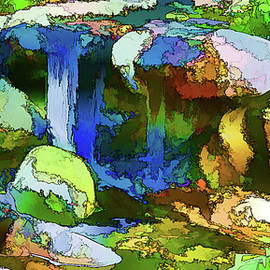Linda Brody - 11 Lily Pond Waterfall Abstract