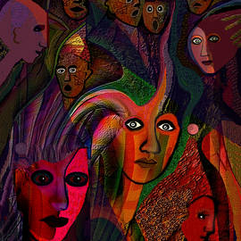Irmgard Schoendorf Welch -   1149   People and Masks A