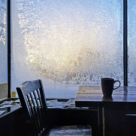 14 Below At The Coffee Shop This Morning by Jim Hughes