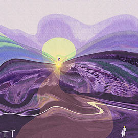 1241 - Mountain Morning with an Angel by Irmgard Schoendorf Welch
