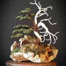 Ricks Tree Art - #127 Hand Painted Wire Tree sculpture