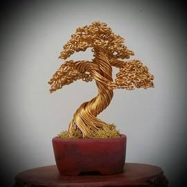 Ricks Tree Art - #139 Gold Tree in a Bunzan Pot