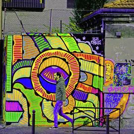 Richard Rosenshein - Street Art In The La Villette Area Of Paris, France