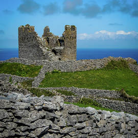 14th Century O'brien's Castle Aran Islands by James Truett