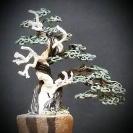 Ricks Tree Art - #150 Juniper with deadwood Wire Tree Sculpture