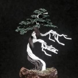 Ricks Tree Art - #154 Simple Bonsai Tree with deadwood