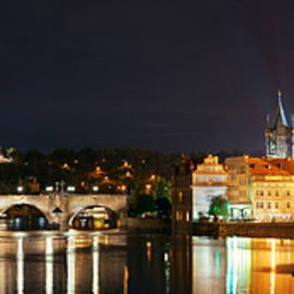 Prague Skyline And Bridge  by Songquan Deng