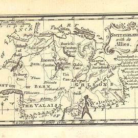 1774 Switzerland Antique Map by Reynold Jay