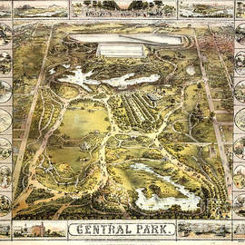 Paul W Faust - Impressions of Light - 1863 Central Park Map