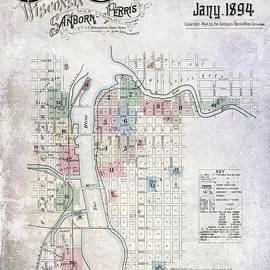 1894 Green Bay Wisconsin Map - Jon Neidert