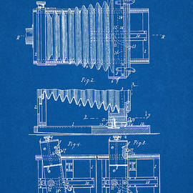 1897 Camera Us Patent Invention Drawing - Blueprint by Todd Aaron