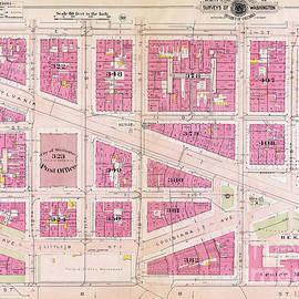 1909 Map of Washington DC - Jon Neidert