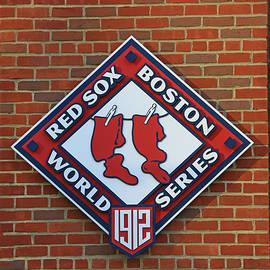 Allen Beatty - 1912 World Series Plaque - Fenway Park