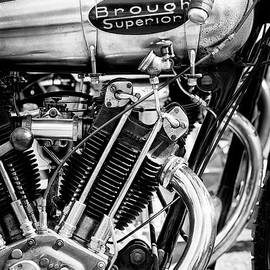 1924 Brough Superior Ktor Brooklands Racer Monochrome by Tim Gainey