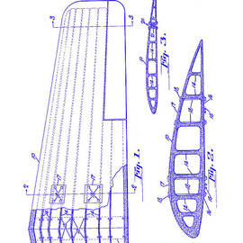 1925 Airplane Wing Patent Blueprint - Jon Neidert