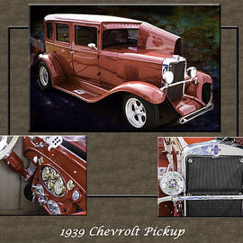 1929 Chevrolet Classic Car Automobile Color Red 3557.02 by M K Miller