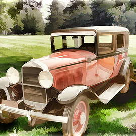 1929 Willys Knight Vintage Classic Car Automobile Painting Fine  by M K Miller