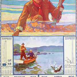 1930 Winchester Repeating Arms And Ammunition Calendar - Lynn Bogue Hunt