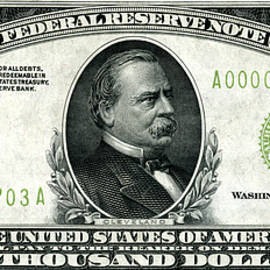 1934 One Thousand Dollar Bill by Historic Image