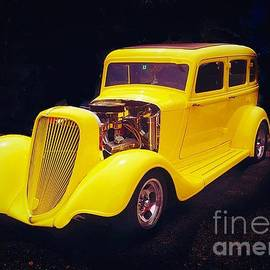 1934 Yellow Plymouth by Anne Sands