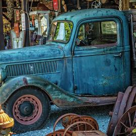 1937 Big Blue V8 Ford Pickup Truck by Debra and Dave Vanderlaan