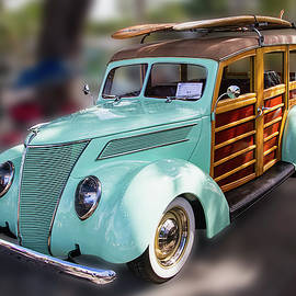 1937 Green Woody Automobile